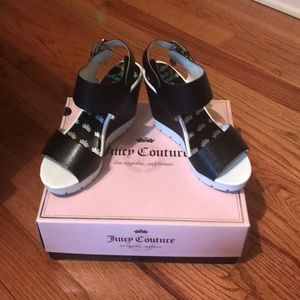 Juicy Couture black and white platform shoes